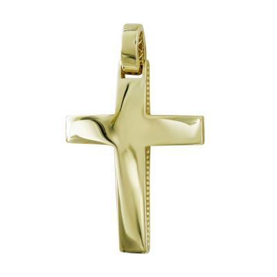 Σταυρός Βάπτισης Ανδρικός Σε Kίτρινο Χρυσό 14 Καρατίων ST111155