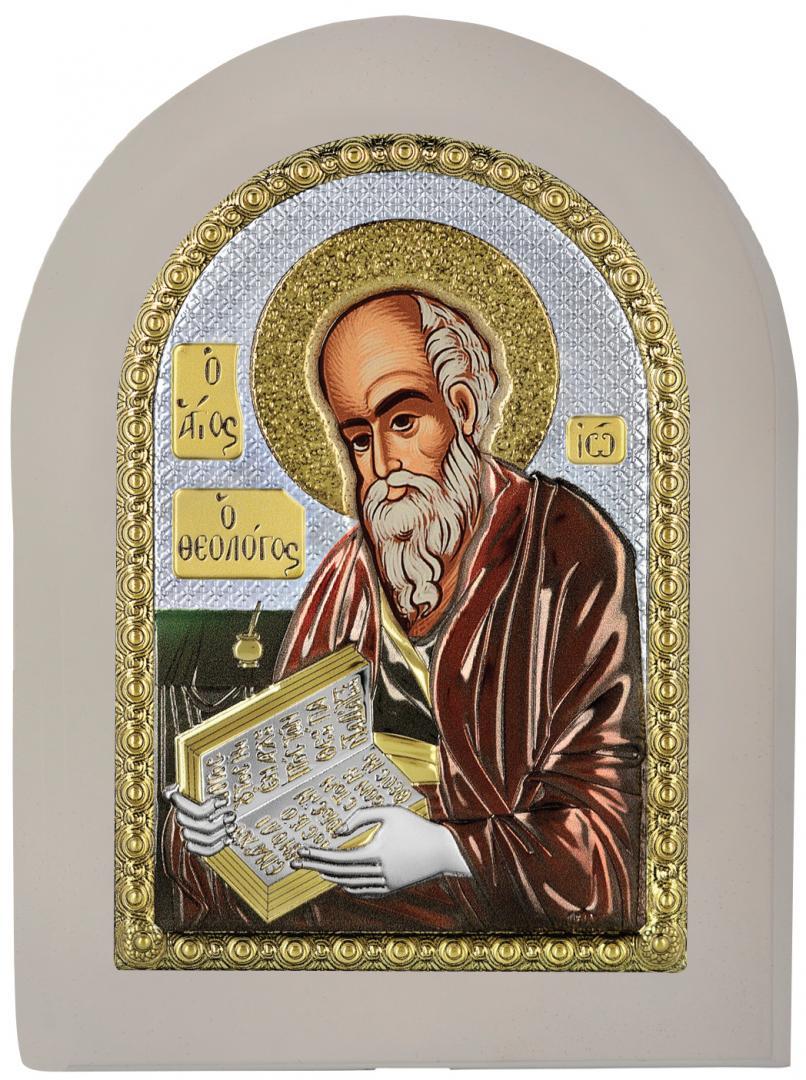 Ασημένια επίχρυση εικόνα Άγιος Ιωάννης ο Θεολόγος MA-E1142-X-WC