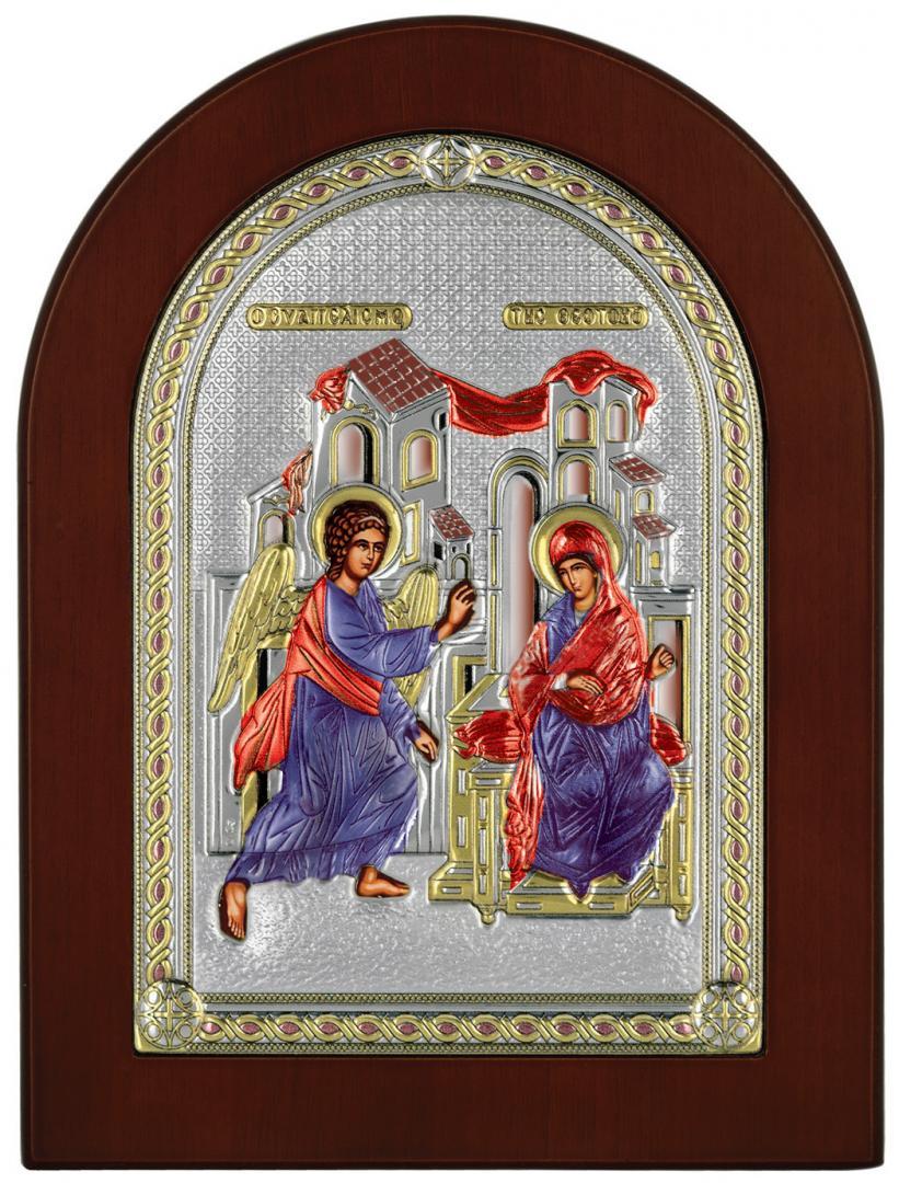 Ασημένια έγχρωμη εικόνα Ευαγγελισμός MA-E1117-X-C