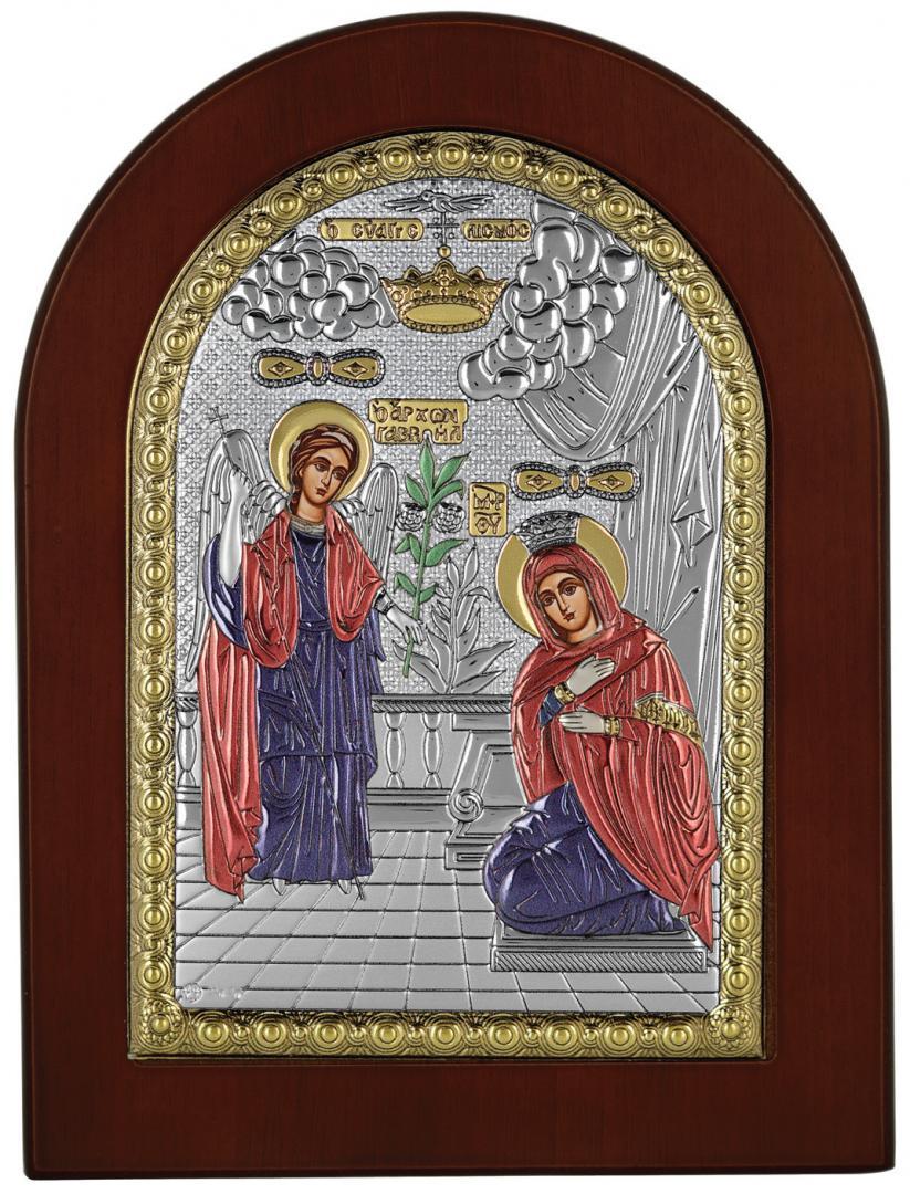Ασημένια έγχρωμη εικόνα Ευαγγελισμός MA-E1113-X-C