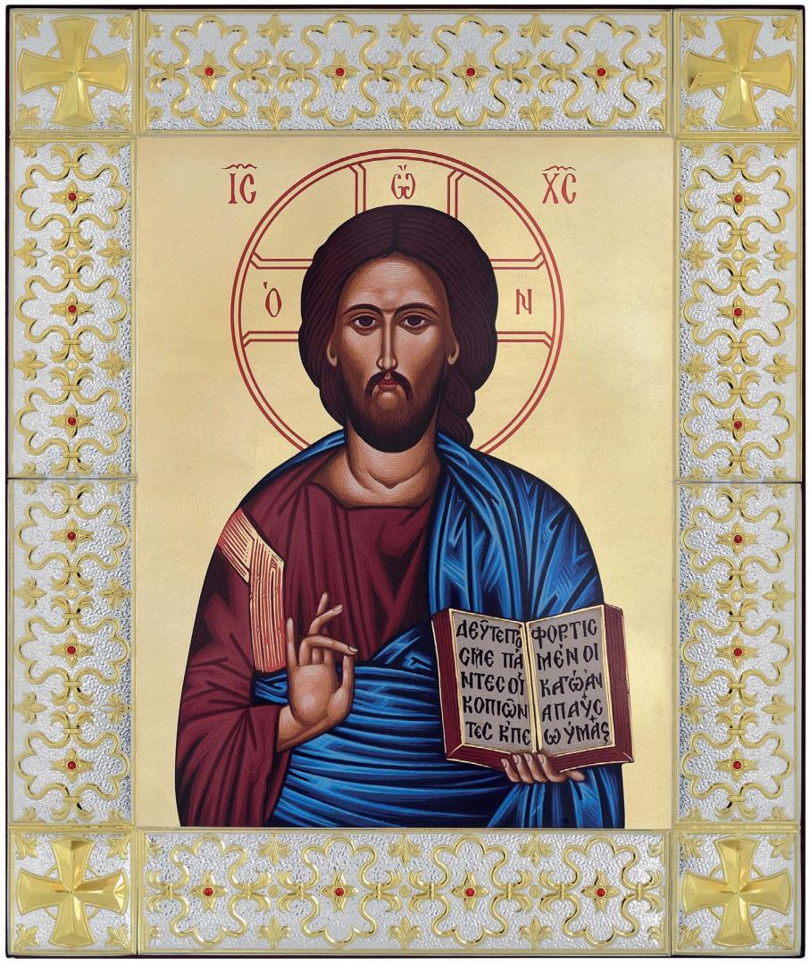 """Ασημένια Εικόνα """"Χριστός"""" MB-E4507-GX"""