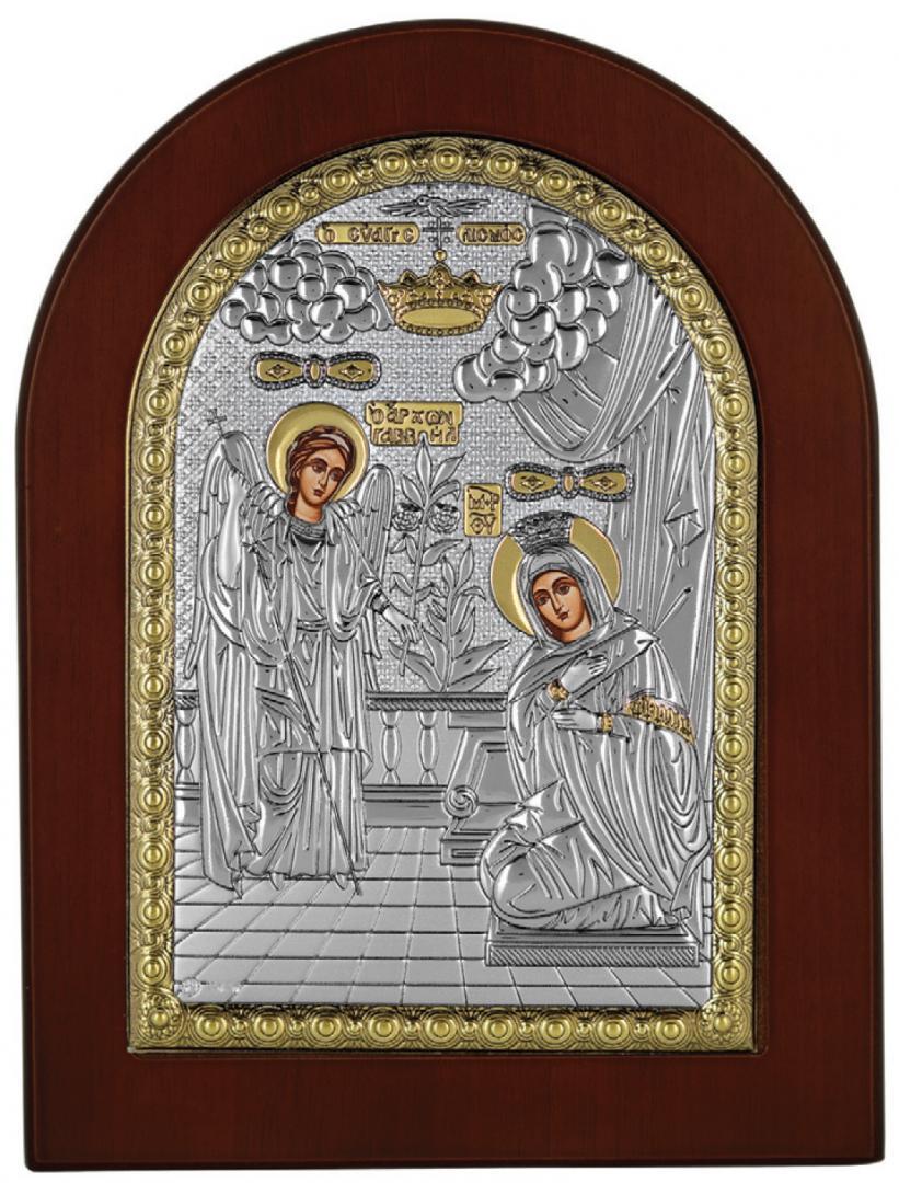 Ασημένια επίχρυση εικόνα Ευαγγελισμός MA-E1113-X