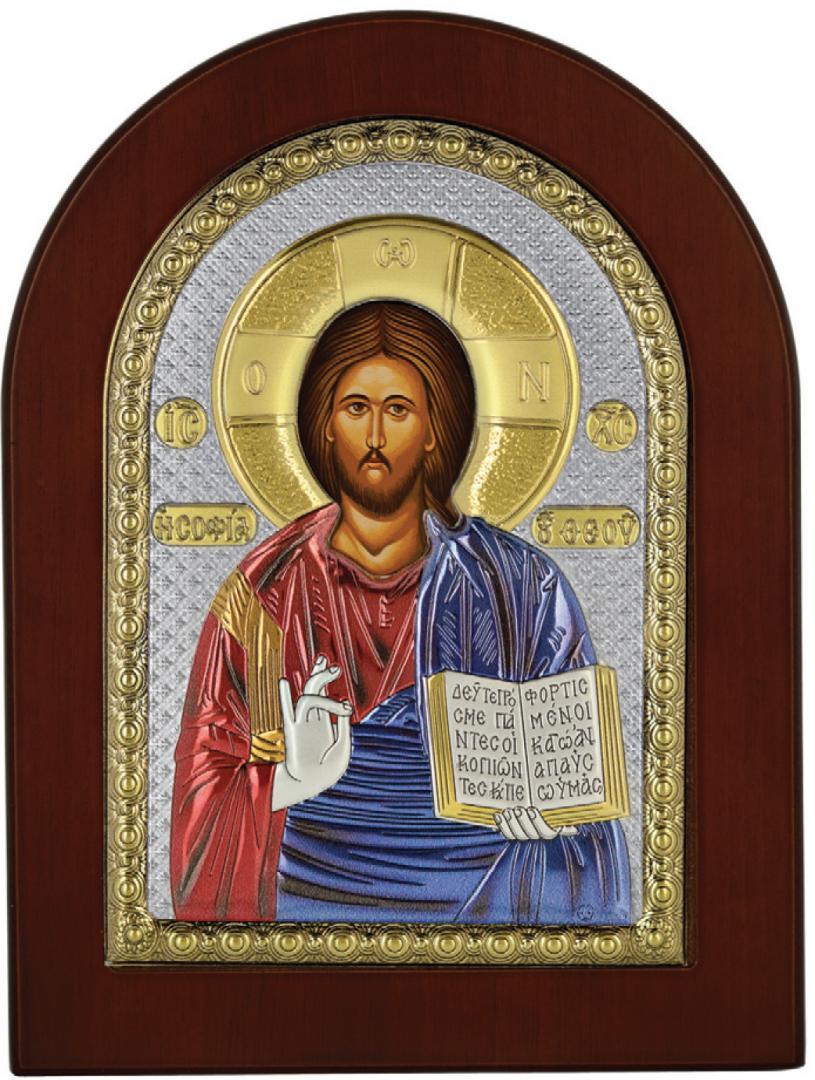 Ασημένια επίχρυση εικόνα Χριστός MA-E1107-X-C