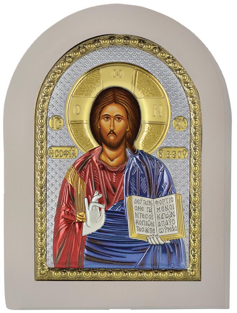 Ασημένια επίχρυση εικόνα Χριστός MA-E1107-X-WC