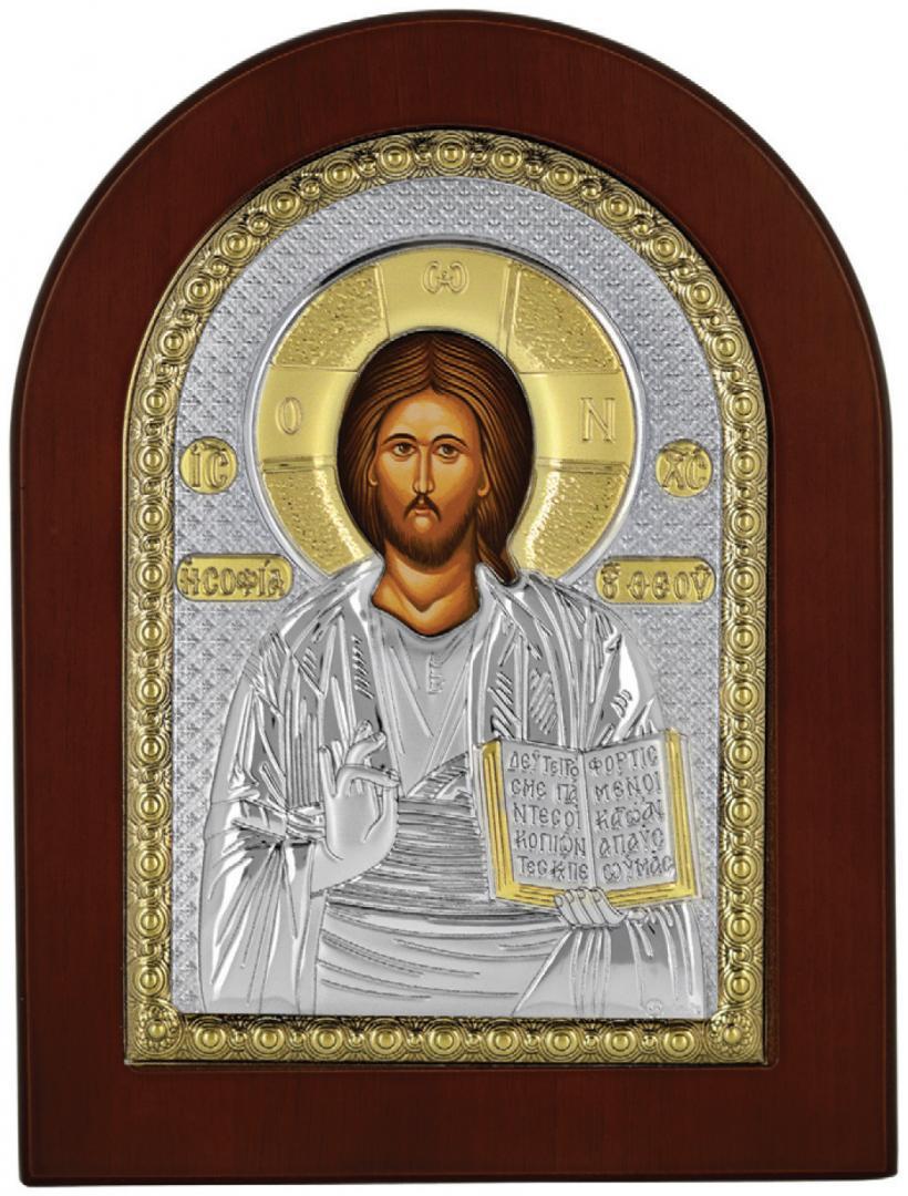 Ασημένια επίχρυση εικόνα Χριστός MA-E1107-X