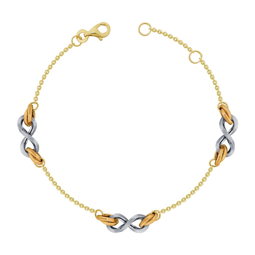 Bραχιόλι από Δίχρωμο Χρυσό K14 VR114255