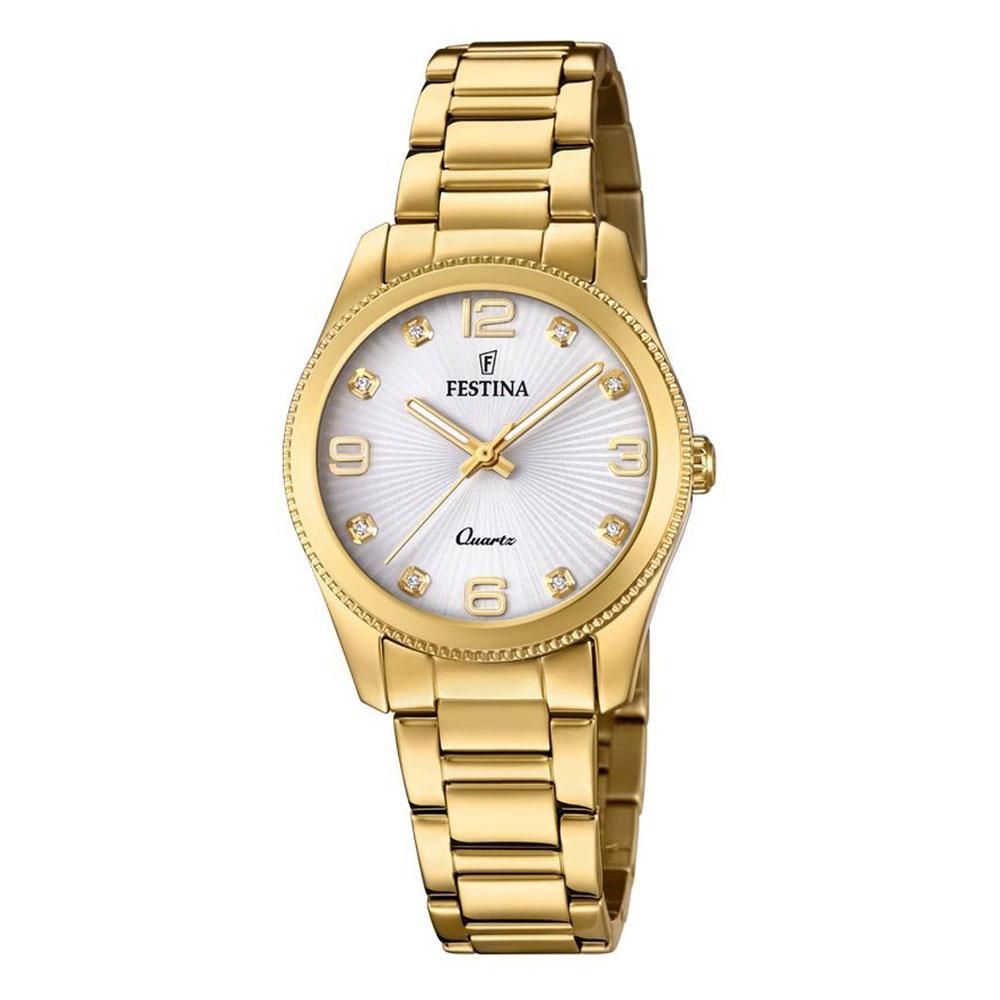 FESTINA Crystals Gold Stainless Steel Bracelet F20210-1
