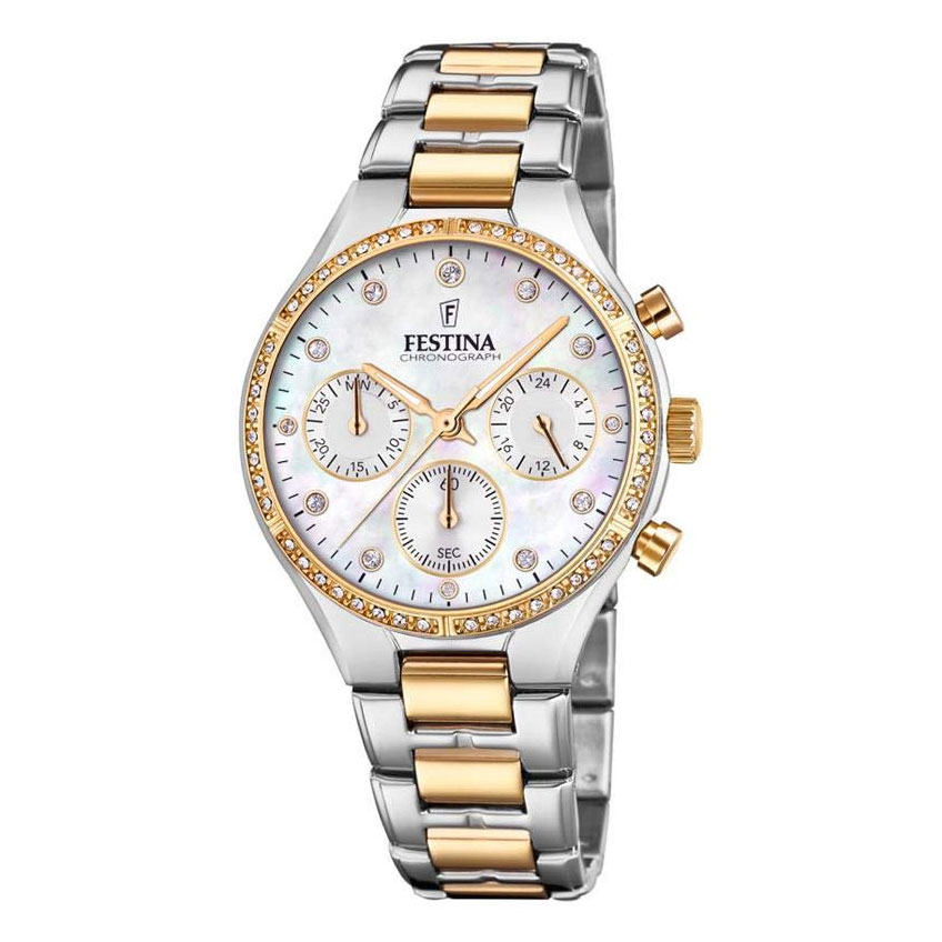 FESTINA Crystals Two Tone Stainless Steel Bracelet F20402-1