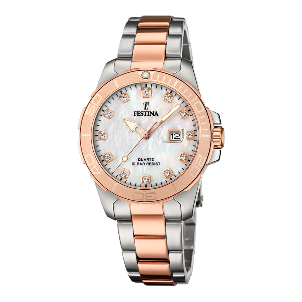 FESTINA Crystals Two Tone Stainless Steel Bracelet F20505-1
