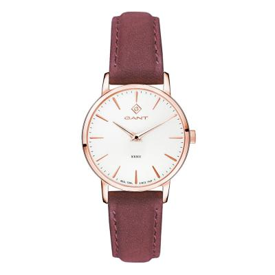 GANT Park Avenue 32 Rose Gold Brown Leather Strap G127007