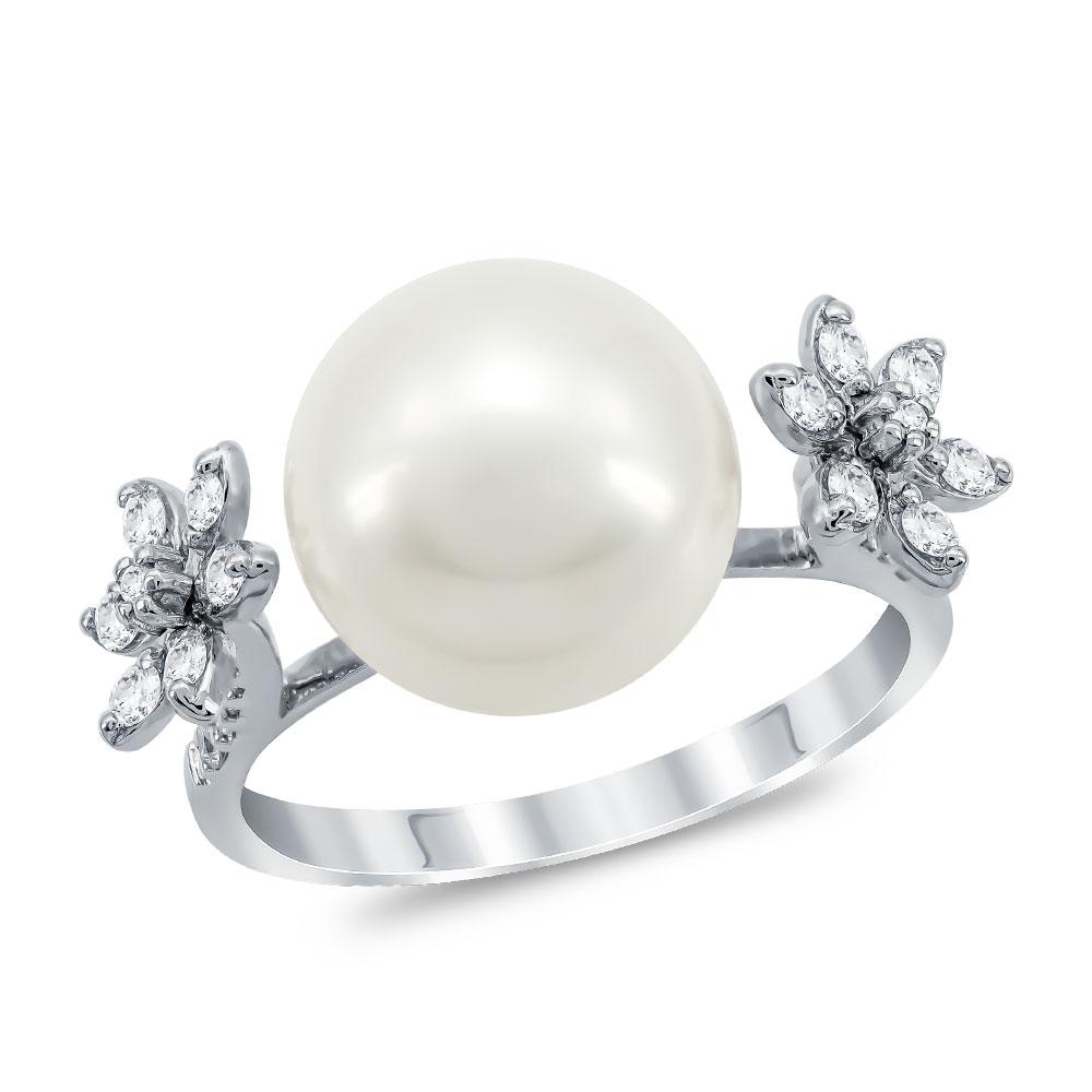 Μονόπετρο Δαχτυλίδι Με Διαμάντια Brilliant από Λευκό Χρυσό K18 DX015150