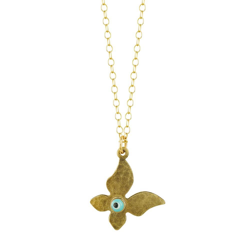 Παιδικό Μενταγιόν Πεταλούδα Από Kίτρινο Χρυσό K14 PM155
