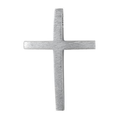 Σταυρός Βάπτισης Ανδρικός Σε Λευκό Χρυσό 14 Καρατίων ST101463