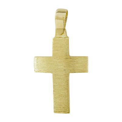 Σταυρός Βάπτισης Ανδρικός Σε Kίτρινο Χρυσό 14 Καρατίων ST85742