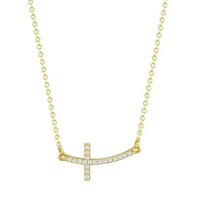 Κολιέ Σταυρός από Kίτρινο Χρυσό K9 KL1082