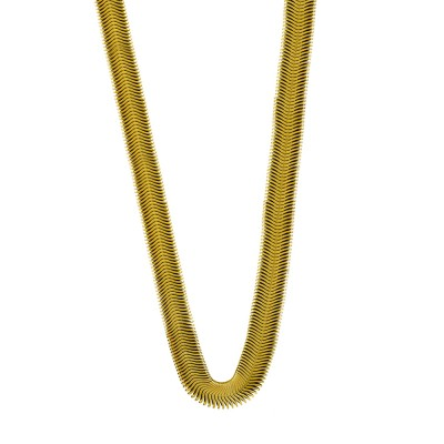 Κολιέ Snake από Επιχρυσωμένο Ατσάλι KL1062