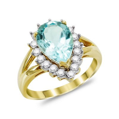 Mονόπετρο Δαχτυλίδι από Δίχρωμο Χρυσό K18 DX1121
