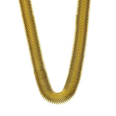 Κολιέ Snake από Επιχρυσωμένο Ατσάλι KL1061