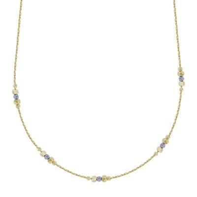 Κολιέ με Διαμανταρισμένες Μπαλίτσες από Κίτρινο Χρυσό Κ14 ΚL114252