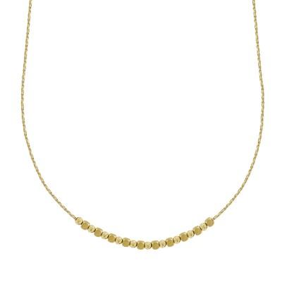 Κολιέ με Διαμανταρισμένες Μπαλίτσες από Κίτρινο Χρυσό Κ14 ΚL114253