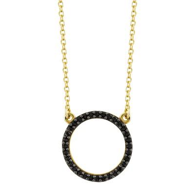 Κολιέ Κύκλος από Kίτρινο Χρυσό K9 KL1081