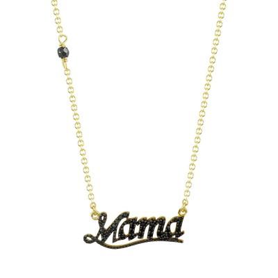 Kολιέ Mama από Κίτρινο Χρυσό K9 KL1076