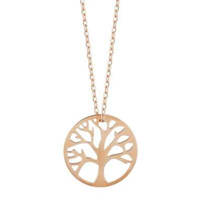 Κολιέ με το Δέντρο της Ζωής από Ροζ Χρυσό Κ14 KL111528