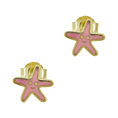 Παιδικά Σκουλαρίκια Αστερίας από Κίτρινο Χρυσό Κ9 PSK475