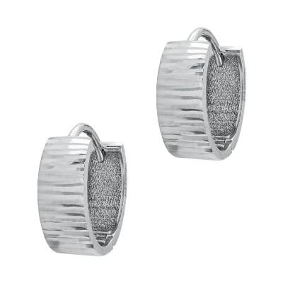 Σκουλαρίκια Κρίκοι Από Λευκό Χρυσό Κ14 SK111871