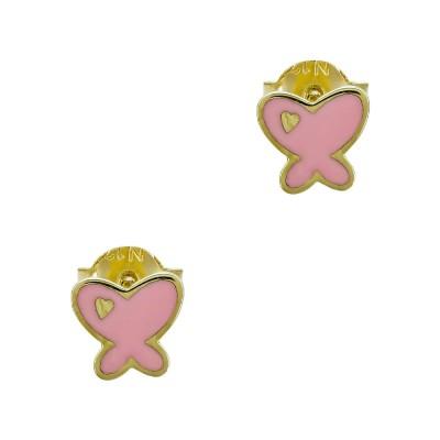 Παιδικά Σκουλαρίκια Πεταλούδα από Κίτρινο Χρυσό Κ9 PSK477