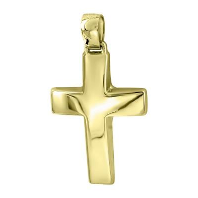 Σταυρός Βάπτισης Ανδρικός Σε Κίτρινο Χρυσό 14 Καρατίων ST2835