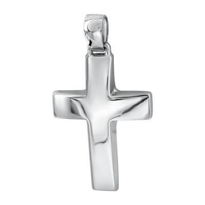 Σταυρός Βάπτισης Ανδρικός Σε Λευκό Χρυσό 14 Καρατίων ST2834