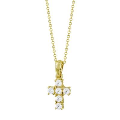 Σταυρουδάκι Μενταγιόν Σε Kίτρινο Χρυσό 9 Καρατίων STM504