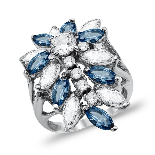 Mονόπετρο Δαχτυλίδι από Λευκό Χρυσό K14 DX1134