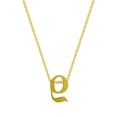 """Μονόγραμμα Μενταγιόν """"ρ"""" Από Κίτρινο Χρυσό Κ9 MG197"""