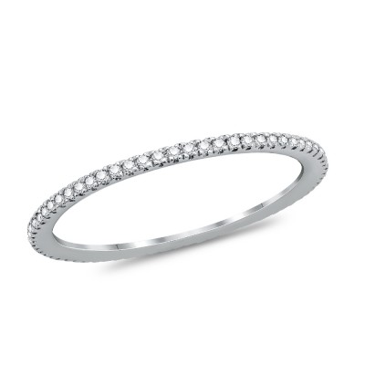 Μονόπετρο Δαχτυλίδι Με Διαμάντια Brilliant από Λευκό Χρυσό K18 DDX297
