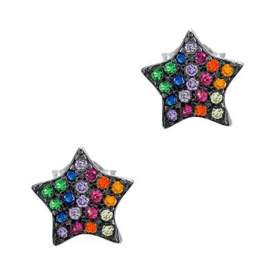 Σκουλαρίκια Αστεράκια από Ασήμι SK1292
