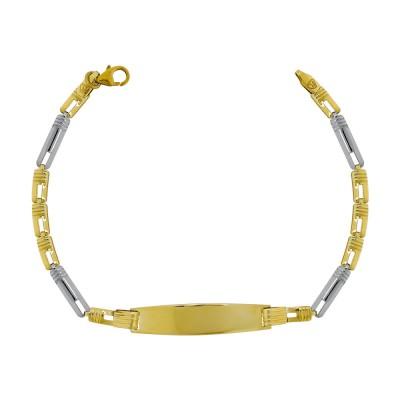 Παιδική Ταυτότητα από Κίτρινο Χρυσό Κ9 TVR457
