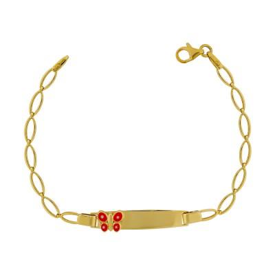Παιδική Ταυτότητα από Κίτρινο Χρυσό Κ9 TVR450